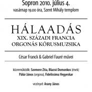 2010.07.01–04. Próbák és évadzáró